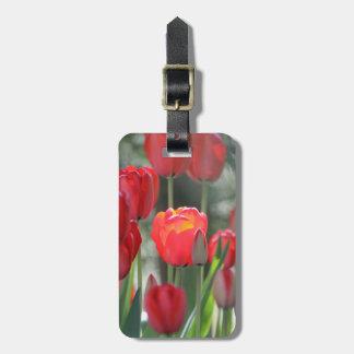 Roter Tulpe-Gepäck-Umbau personalisiert Gepäckanhänger