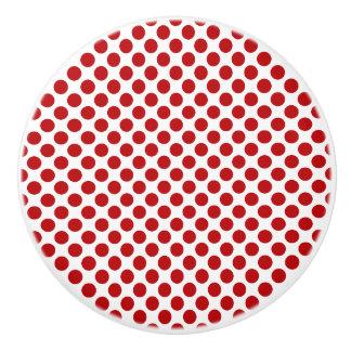 Roter Tupfen-Entwurf - Fach-Griff Keramikknauf