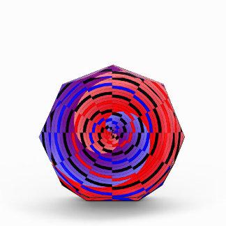Roter u. blauer Zähler-Spiralen-Preis Acryl Auszeichnung
