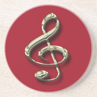 Roter u. dreifacher Clef-Musik-MessingUntersetzer Getränkeuntersetzer