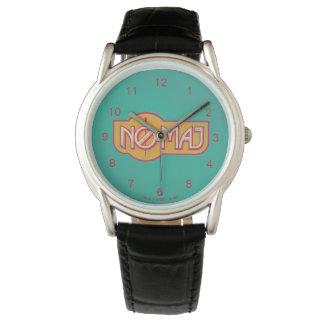 Roter u. gelber NO-Major Badge Armbanduhr