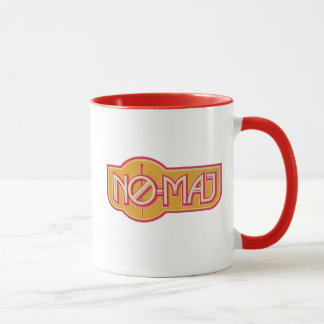 Roter u. gelber NO-Major Badge Tasse