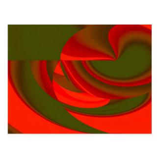 Roter u. grüner Cubist abstrakt Postkarte