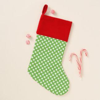 Roter u. grüner Tennisball-Muster Weihnachtsstrumpf