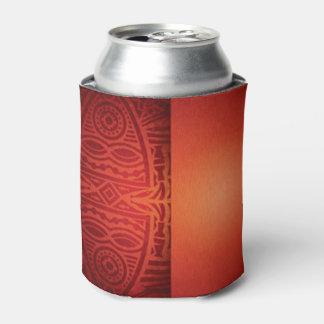 Roter u. orange afrikanischer Muster-Entwurf Dosenkühler