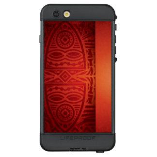 Roter u. orange afrikanischer Muster-Entwurf LifeProof NÜÜD iPhone 6s Plus Hülle