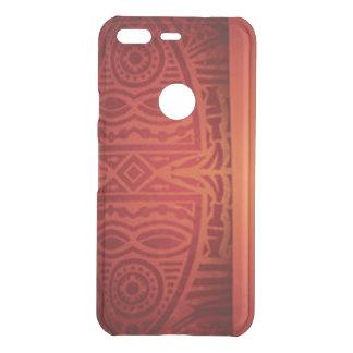 Roter u. orange afrikanischer Muster-Entwurf Uncommon Google Pixel Hülle