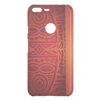Roter u. orange afrikanischer Muster-Entwurf Uncommon Google Pixel XL Hülle