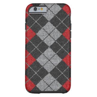 Roter u. schwarzer bequemer Rauten-Blick iPhone 6