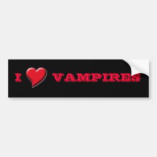 Roter u. schwarzer i-Liebe Vampires-Autoaufkleber