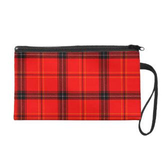 Roter u. schwarzer karierter TartanWristlet Wristlet Handtasche