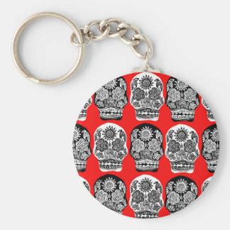 Roter u. schwarzer Tag der toten Schädel Schlüsselanhänger