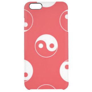 Roter u. weißer Yin Yang Muster-Entwurf Durchsichtige iPhone 6 Plus Hülle