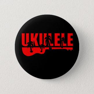 roter Ukulele Runder Button 5,7 Cm