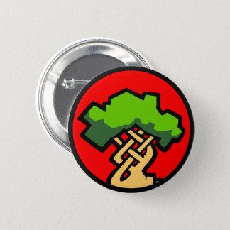 Roter Umhang-kleines Logo-Abzeichen Runder Button 5,1 Cm
