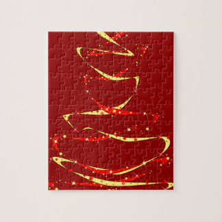 Roter und gelber Band-Baum Puzzle