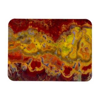 Roter und gelber Crayloa Jaspis Magnet