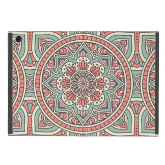 Roter und grüner BlumenMandala-Entwurf Schutzhülle Fürs iPad Mini