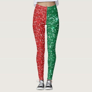 roter und grüner Glitter Leggings
