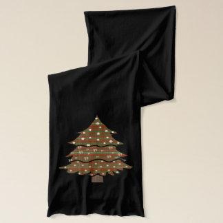 Roter und grüner karierter Baum Schal