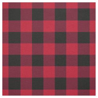 Roter und schwarzer Büffel-Karo Stoff