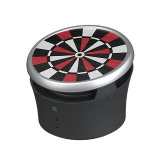 Roter und schwarzer Dartboard-Lautsprecher Bluetooth Lautsprecher