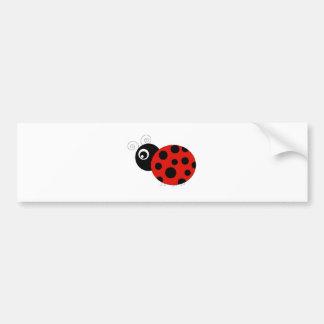 Roter und schwarzer Marienkäfer Autoaufkleber