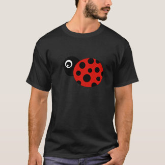 Roter und schwarzer Marienkäfer T-Shirt