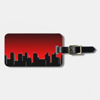 Roter und schwarzer Stadtbild-Gepäckanhänger Kofferanhänger