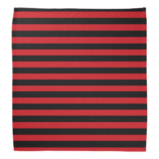 Roter und schwarzer StreifenBandana Halstuch