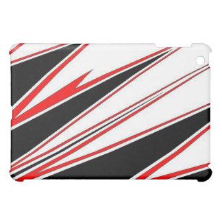 Roter und schwarzer Zigkasten. Ich-Auflage iPad Mini Hülle
