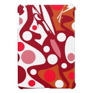 Roter und weißer Dekor Hüllen Für iPad Mini