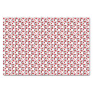 Roter und weißer Fußball Seidenpapier