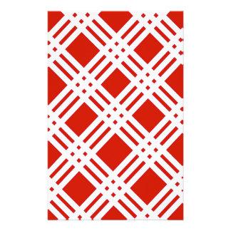 Roter und weißer Gingham Briefpapier