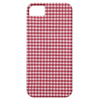 Roter und weißer Gingham-Karo iPhone 5 Hülle