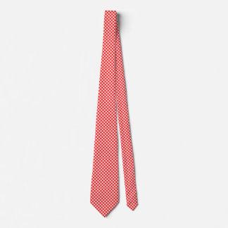 Roter und weißer Gingham überprüft Krawatte