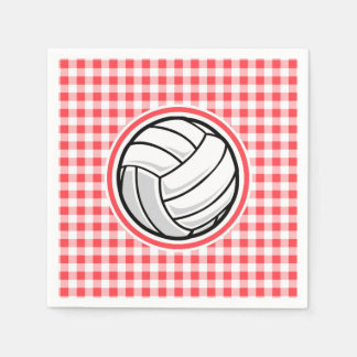 Roter und weißer Gingham; Volleyball Serviette