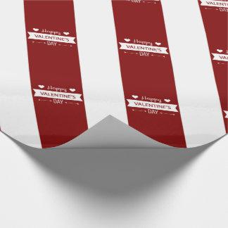 Roter und weißer glücklicher Valentinstag Geschenkpapier