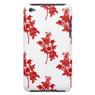 Roter und weißer Kasten Blumen-iPod Touch-4g Case-Mate iPod Touch Case
