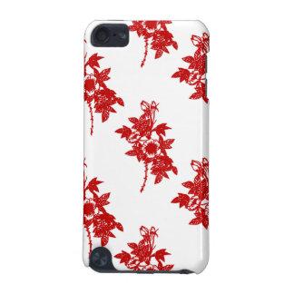 Roter und weißer Kasten Blumen-iPod Touch-5g iPod Touch 5G Hülle
