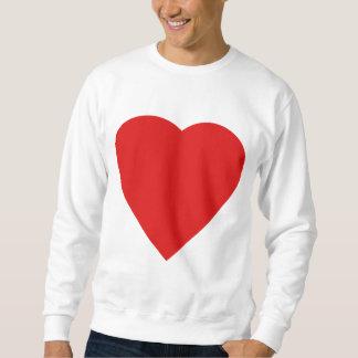 Roter und weißer Liebe-Herz-Entwurf Sweatshirt