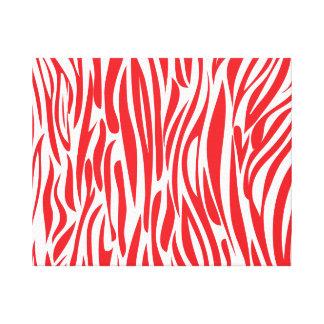 Roter und weißer Tierdruck Leinwanddruck