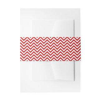 Roter und weißer Zickzack Stripes Zickzack Muster Einladungsbanderole