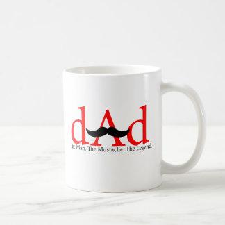 Roter Vati-Schnurrbart Kaffeetasse