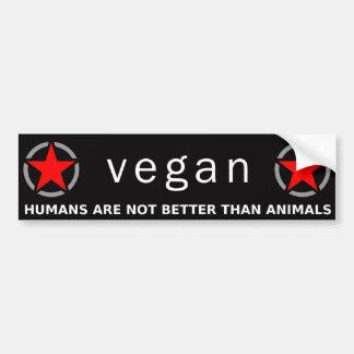 Roter veganer Stolz Autoaufkleber