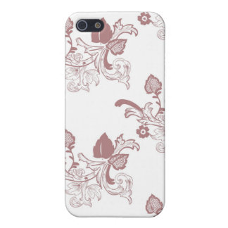 Roter Vintager Blumenmuster-Entwurf iPhone 5 Case
