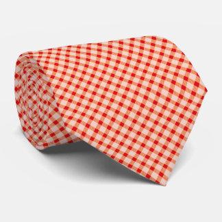 Roter Vintager Gingham Krawatte