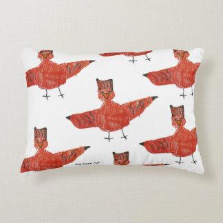 Roter Vogel gebürstetes Fleece-Kissen Zierkissen