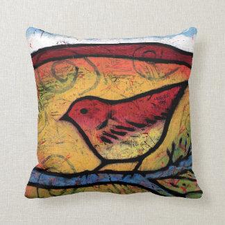 Roter Vogel hörte das Wüste Nennen Kissen