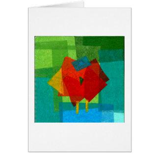 Roter Vogel Karte